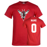 Red T Shirt-Hornet Bevel L, Custom Tee w/ Name and #