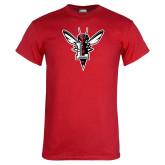 Red T Shirt-Hornet Bevel L
