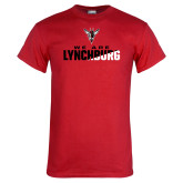 Red T Shirt-We Are Lynchburg Two-Tone