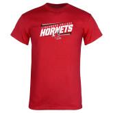Red T Shirt-Lynchburg College Hornets Stencil