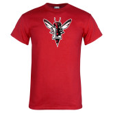 Red T Shirt-Hornet Bevel L Distressed