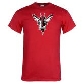 Red T Shirt-Hornet Bevel L Distressed