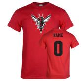 Red T Shirt-Hornet Bevel L, Custom Tee w/ Name and #