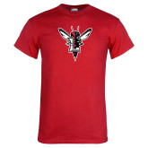 Red T Shirt-Hornet Bevel L