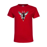 Youth Red T Shirt-Hornet Bevel L