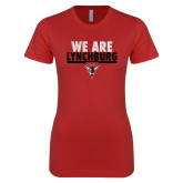 Next Level Ladies SoftStyle Junior Fitted Red Tee-We Are Lynchburg