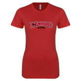 Next Level Ladies SoftStyle Junior Fitted Red Tee-Alumni