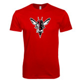 Next Level SoftStyle Red T Shirt-Hornet Bevel L