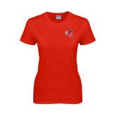 Ladies Red T Shirt-Hornet