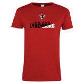 Ladies Red T Shirt-We Are Lynchburg Two-Tone