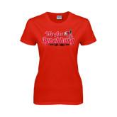 Ladies Red T Shirt-We Are Lynchburg Est 1903