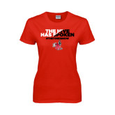 Ladies Red T Shirt-The Hive Has Spoken