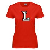 Ladies Red T Shirt-Stinger L
