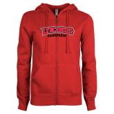 ENZA Ladies Red Fleece Full Zip Hoodie-Grandparent
