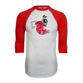 White/Red Raglan Baseball T-Shirt-Hornet