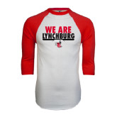 White/Red Raglan Baseball T-Shirt-We Are Lynchburg