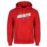 Red Fleece Hoodie-Lynchburg College Hornets Stencil