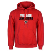 Red Fleece Hoodie-We Are Lynchburg
