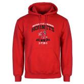 Red Fleece Hoodie-Lynchburg College Hornets