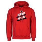 Red Fleece Hoodie-Hornet Nation Slanted Banners