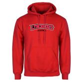 Red Fleece Hoodie-Baseball