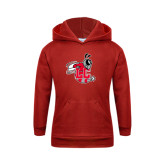 Youth Red Fleece Hood-Hornet