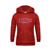 Youth Red Fleece Hood-Lynchburg Hornets