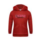 Youth Red Fleece Hood-Basketball