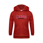 Youth Red Fleece Hood-Baseball