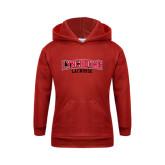 Youth Red Fleece Hood-Lacrosse