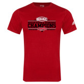 Adidas Red Logo T Shirt-ODAC Champions Mens Basketball