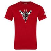 Adidas Red Logo T Shirt-Hornet Bevel L