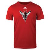 Adidas Red Logo T Shirt-Hornet Bevel L