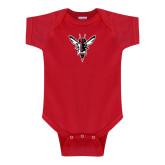 Red Infant Onesie-Hornet Bevel L