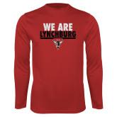 Performance Red Longsleeve Shirt-We Are Lynchburg