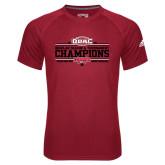 Adidas Climalite Red Ultimate Performance Tee-ODAC Champions Womens Basketball