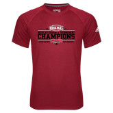 Adidas Climalite Red Ultimate Performance Tee-ODAC Champions Mens Basketball
