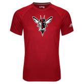 Adidas Climalite Red Ultimate Performance Tee-Hornet Bevel L