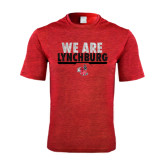Performance Red Heather Contender Tee-We Are Lynchburg
