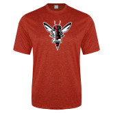 Performance Red Heather Contender Tee-Hornet Bevel L