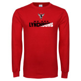 Red Long Sleeve T Shirt-We Are Lynchburg Two-Tone