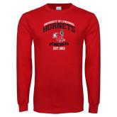 Red Long Sleeve T Shirt-Lynchburg College Hornets