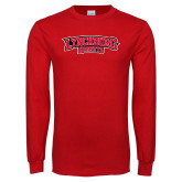 Red Long Sleeve T Shirt-Lynchburg Hornets