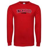 Red Long Sleeve T Shirt-Alumni
