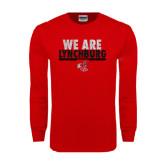 Red Long Sleeve T Shirt-We Are Lynchburg