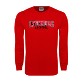 Red Long Sleeve T Shirt-Lacrosse