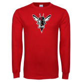 Red Long Sleeve T Shirt-Hornet Bevel L
