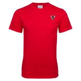 Red T Shirt w/Pocket-Hornet Bevel L