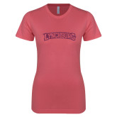 Next Level Ladies SoftStyle Junior Fitted Pink Tee-Arched Lynchburg Pink Glitter
