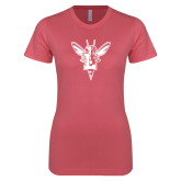 Next Level Ladies SoftStyle Junior Fitted Pink Tee-Hornet Bevel L